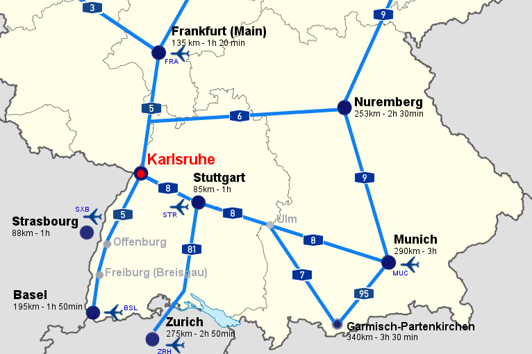 St Annual Meeting Of The German Finance Association And Th - Germany map karlsruhe